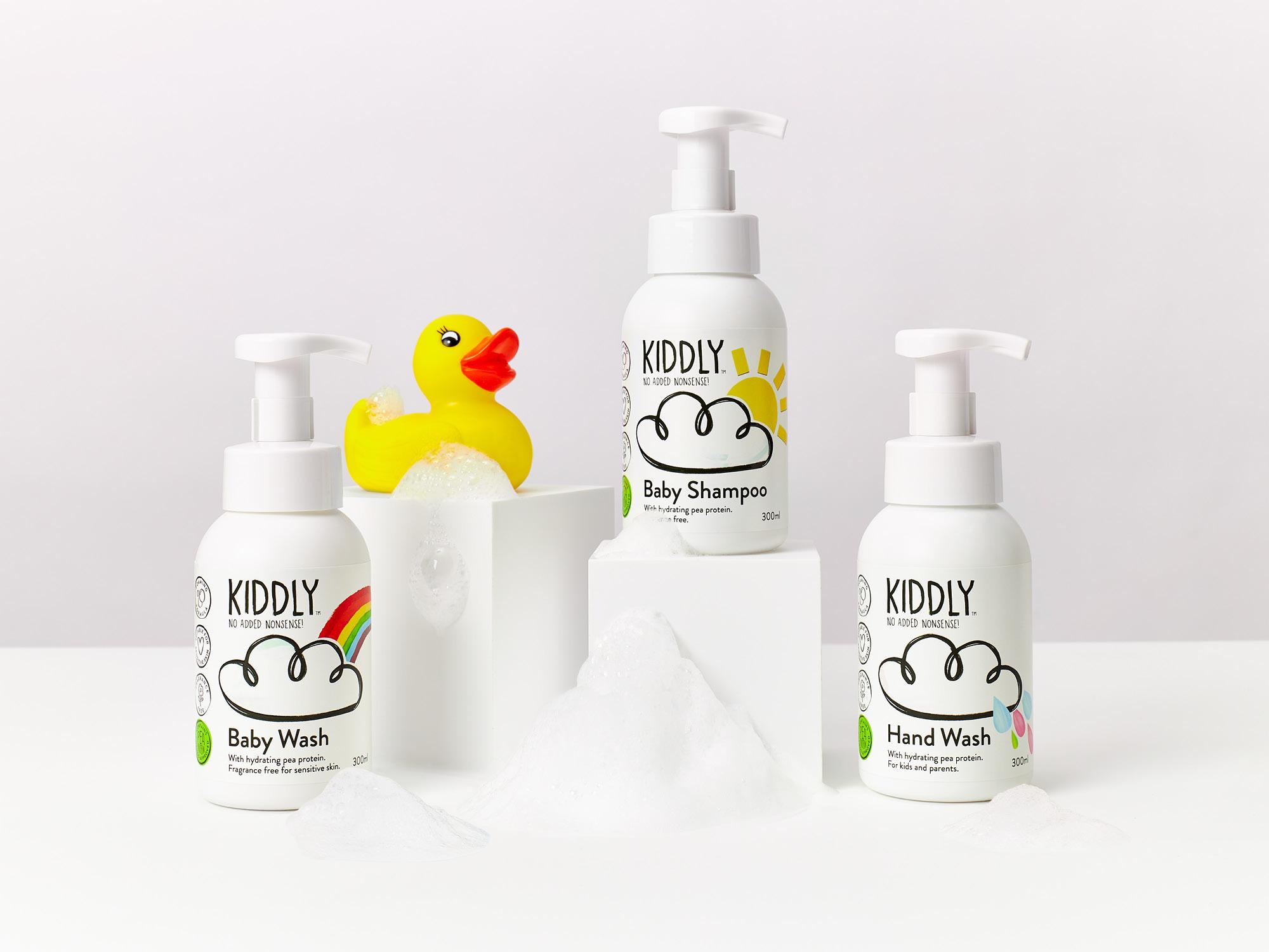 Shampoo & Baby Wash & Hand Soap 3本セット(オーガニック原料、ピープロテイン配合)